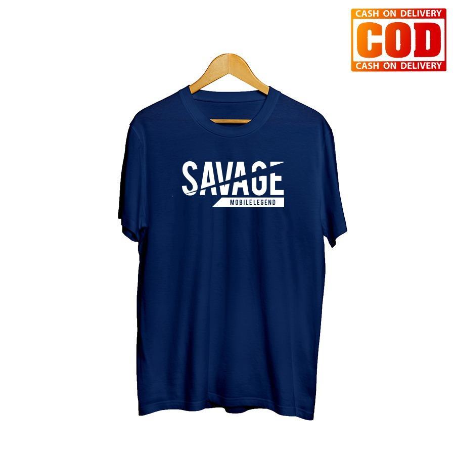 Kaos Premium KaosAjalah KAP / Baju Distro  / Tshirt Casual Pria Wanita / Fashion Atasan / MOBILE LEGEND / DOTA 2 / AOV / SAVAGE 001