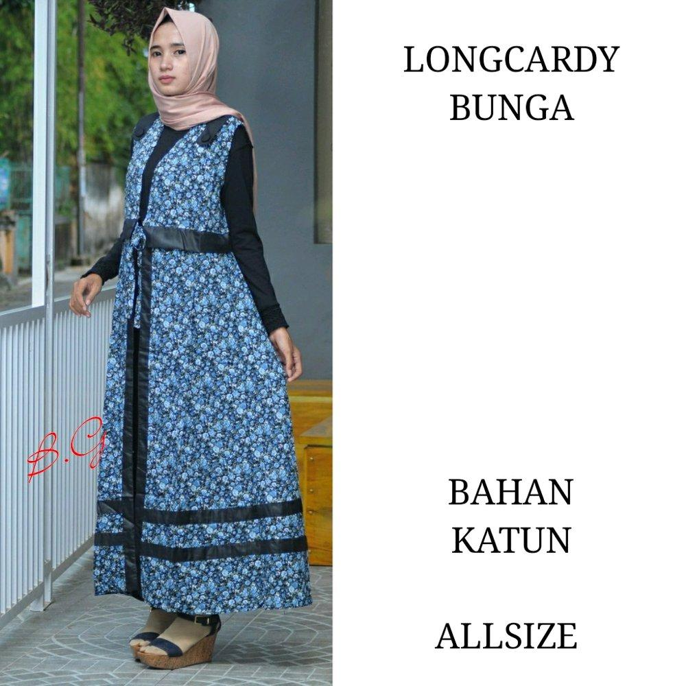 Longcardy bunga - longcardy - longcardy batik - dress batik - longtop batik - outer batik - seragam batik di lapak Batik Gaul Pekalongan nur_janah2611