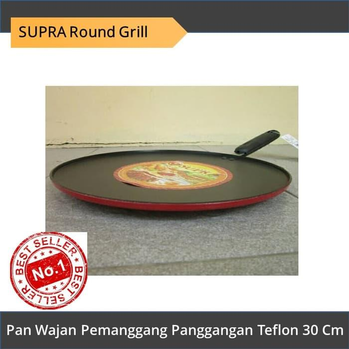 SUPRA Round Grill Pan Wajan Pemanggang Panggangan Teflon Alat Panggang