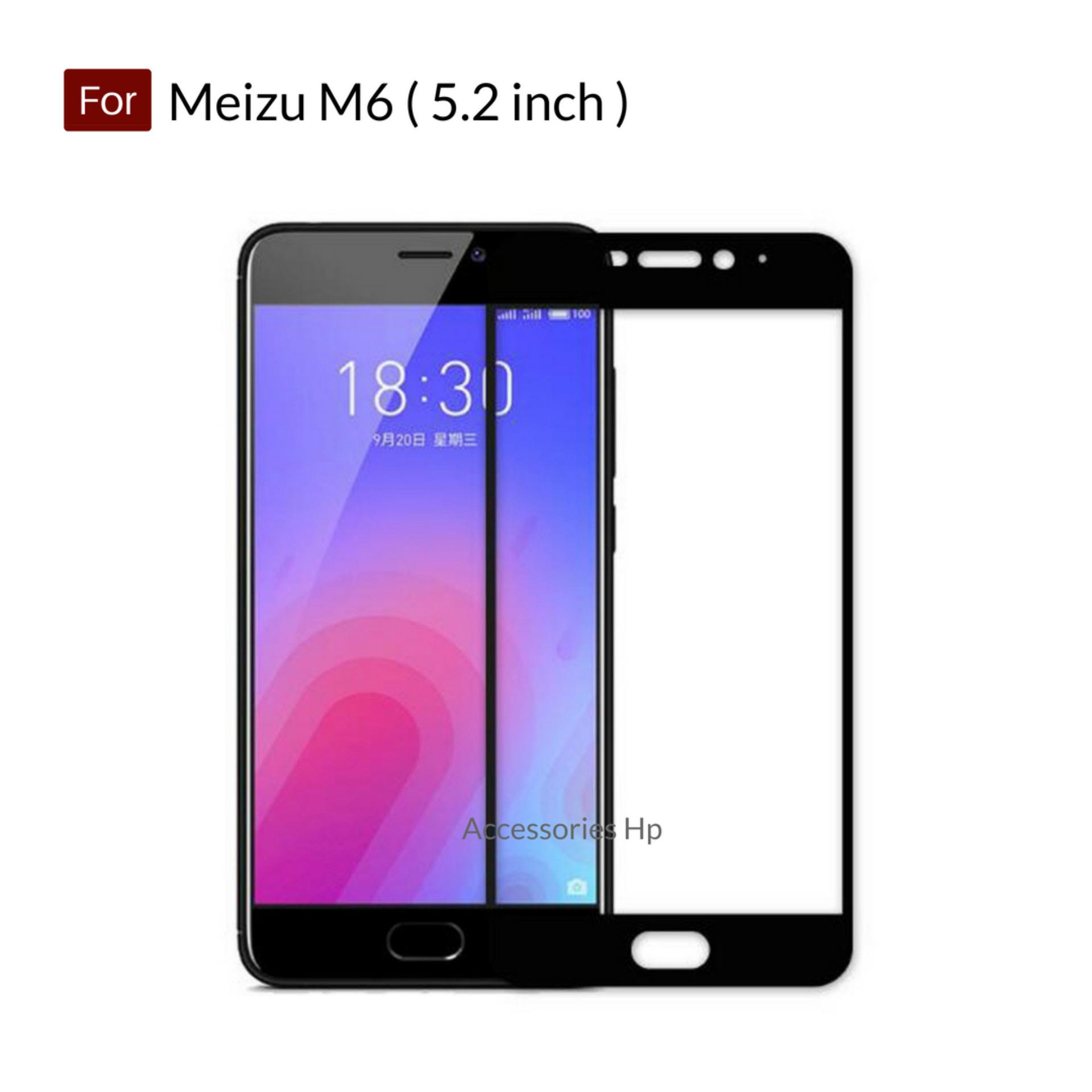 Rp 21.560. Accessories Hp Full Cover Tempered Glass Warna Screen Protector for Meizu M6 ( 5.2 inch ) - BlackIDR21560