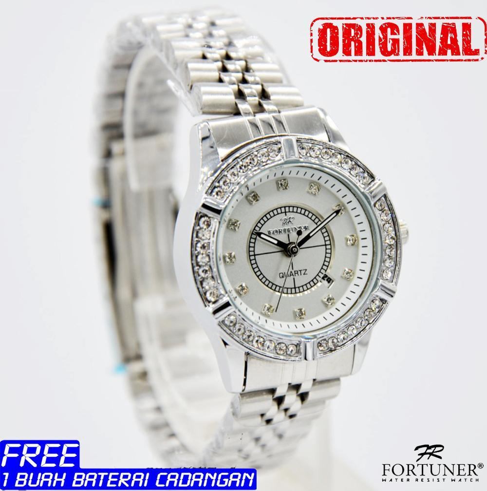 Fortuner Jam Tangan Wanita Silver Strap Stainless Steel Fr 505 Pria Hitam Fr2034dt Spec Formal Fashion