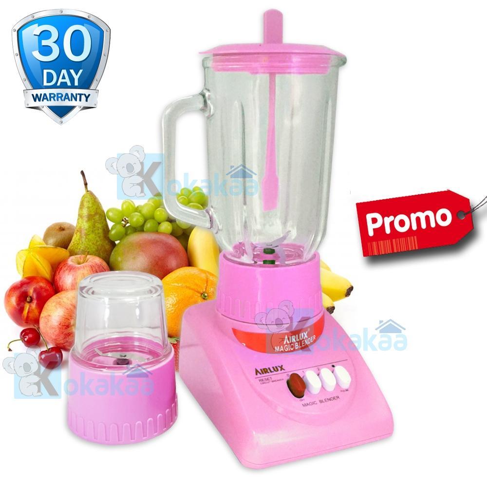 Airlux Electric Blender Glass Jar BT-X Low Watt with Grinder 1000 ML Promo - Pink