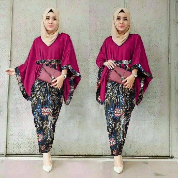 Jakarta Mall  - Setelan Atas dan Bawahan Baju Tradisional / Baju Batik / Kebaya Modern / Baju Murah / Batik Wanita / Baju Wanita / Kutu Baru / Murah; Motif dan Warna Real Photo #Ukuran S, M, L dan XL