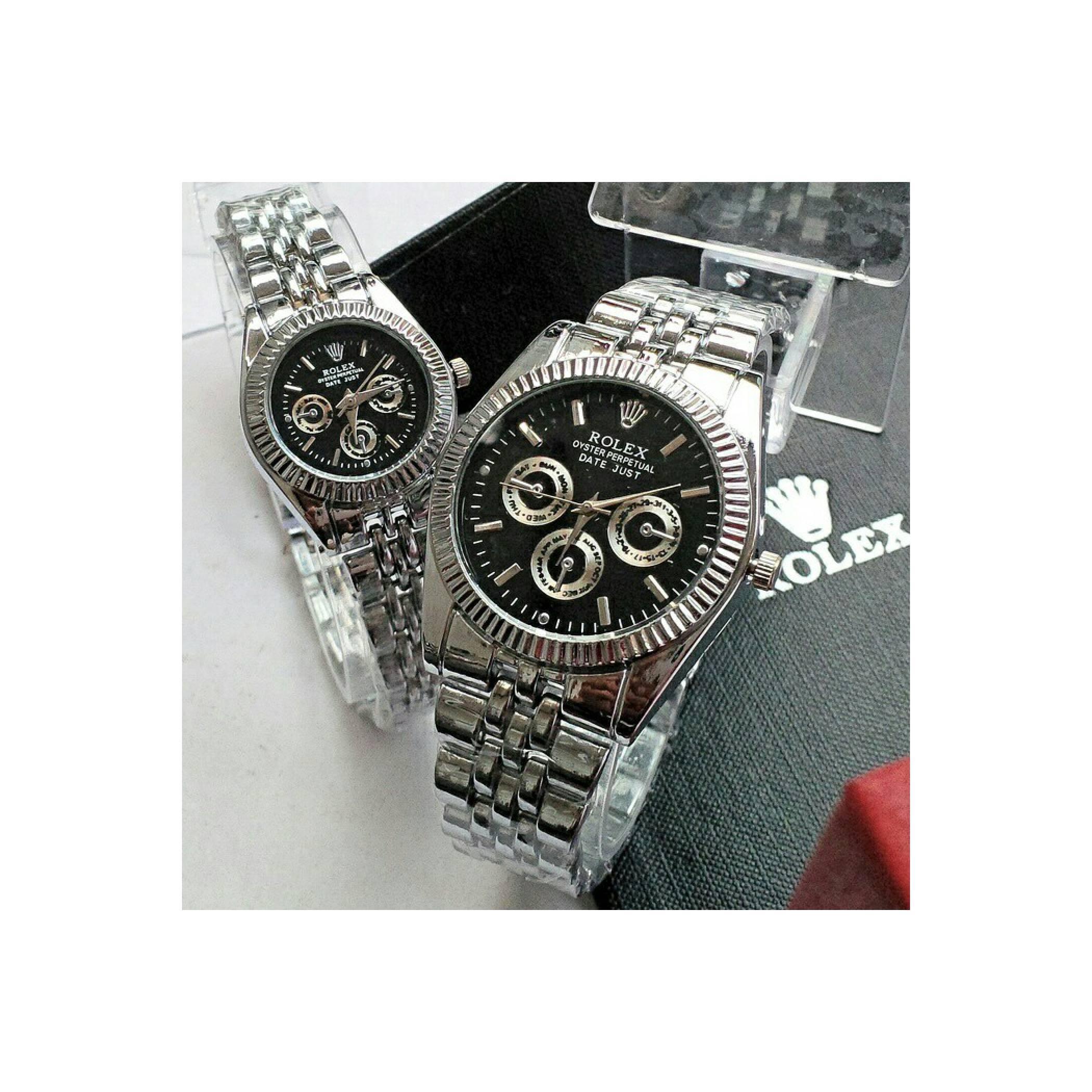 BEST SELLEr harga sepasang jam tangan rolex pria wanita set 2in1 paket
