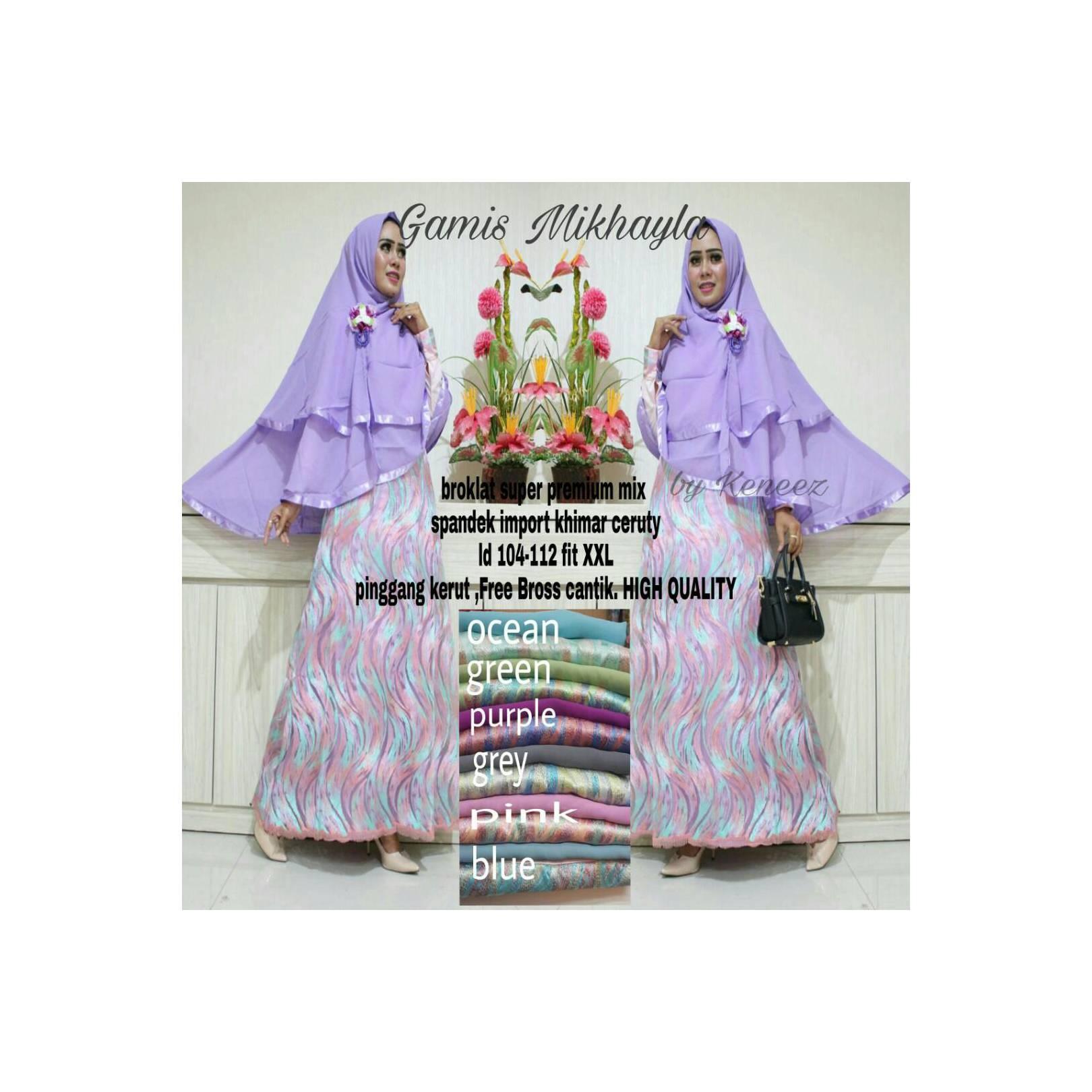 Gamis Dress Brokat Muslim Syari Terbaru Cantik Keren Terbaru Murah