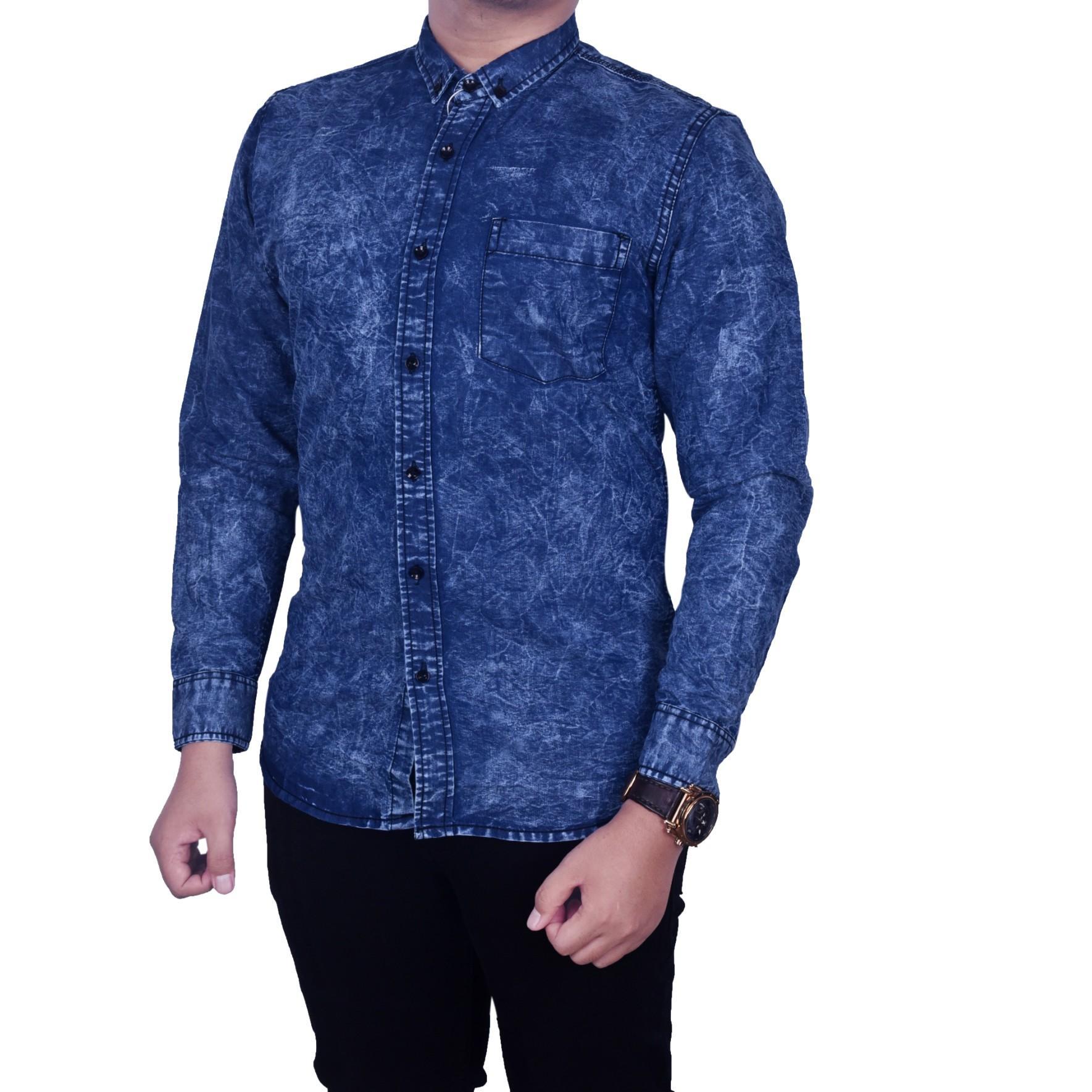 ... Biru Katalog Harga Source · SB Collection Atasan Blouse Celine Kemeja Jumbo Hitam Source Dgm Fashion1 Kemeja Jeans Pria Lengan Panjang