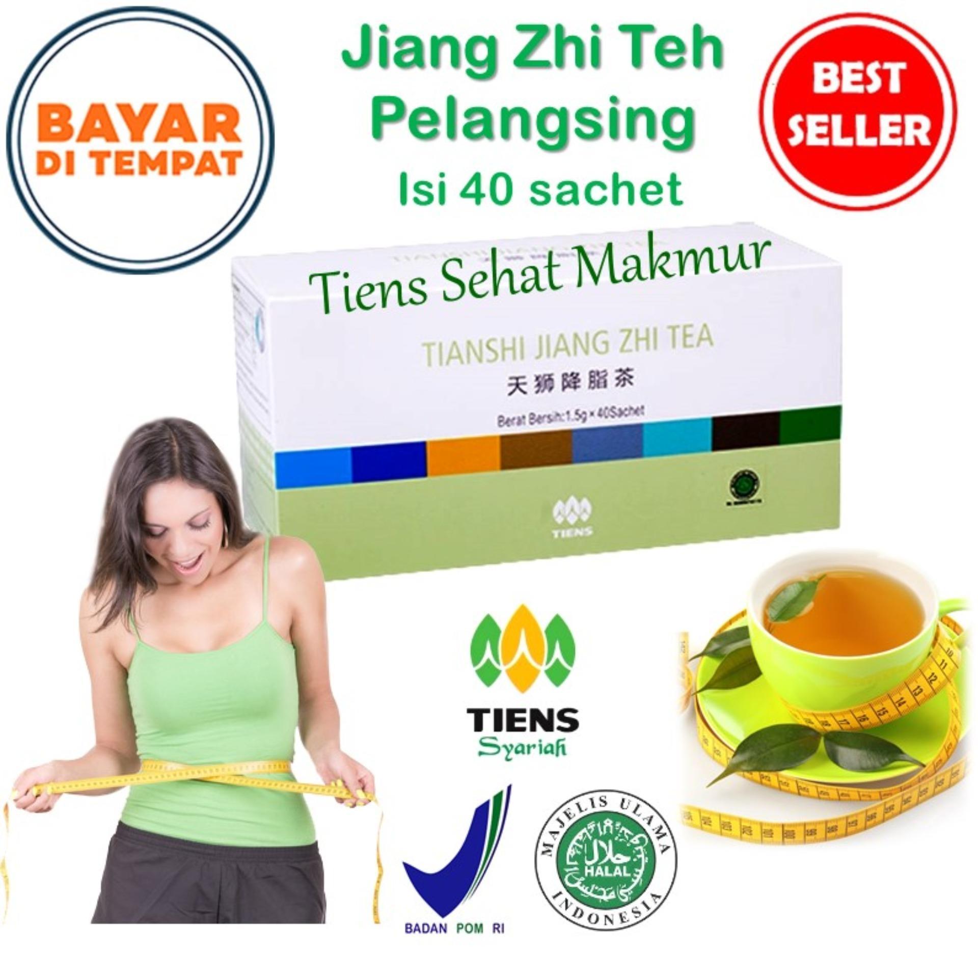 Tiens Teh hijau Jiang Zhi - isi 40 sachet Teh Diet  Teh Peluntur Lemak  Teh Penurun Berat Badan   S