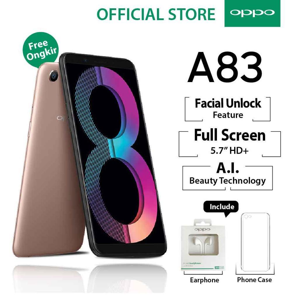 Oppo A83 Smartphone 3/32GB Gold (Garansi Resmi Oppo, Cicilan Tanpa Kartu Kredit, Gratis Ongkir)