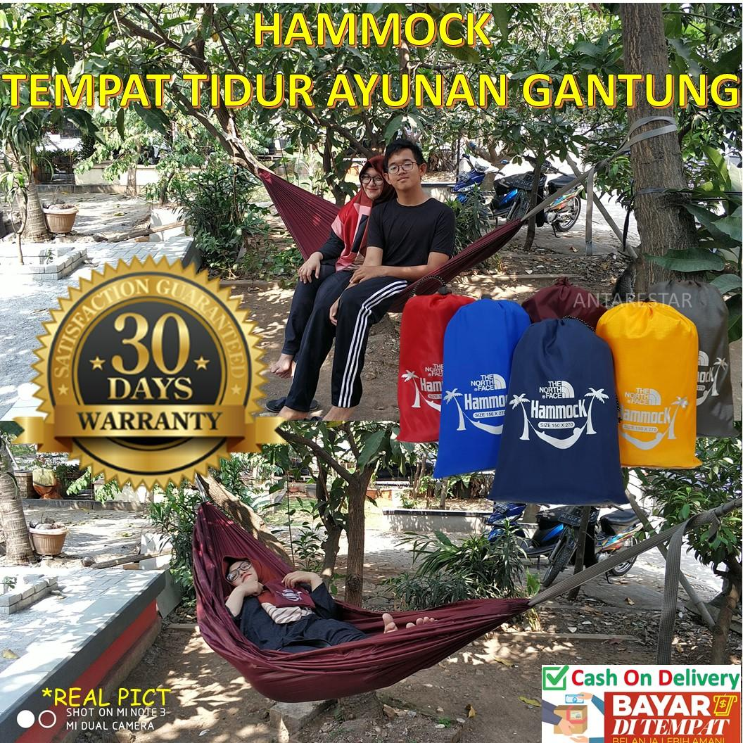 Promo!! Hammock Tempat Tidur Ayunan Kasur Gantung Camping Outdoor Kuat Ringan Praktis Pendaki Adventure Hiking Traveling Backpacking Murah By Antarestar.