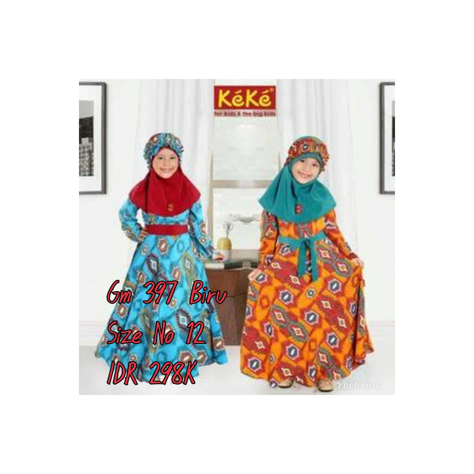 Keke Baju Anak Muslim GM 397 Biru no12 Diskon / Sale / Obra 25%
