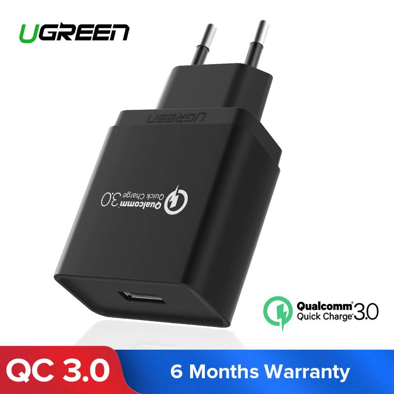 UGREEN QC3.0 Charger Quick Charge 3.0 Charger Fast Handphone Charger for Samsung Xiaomi LG
