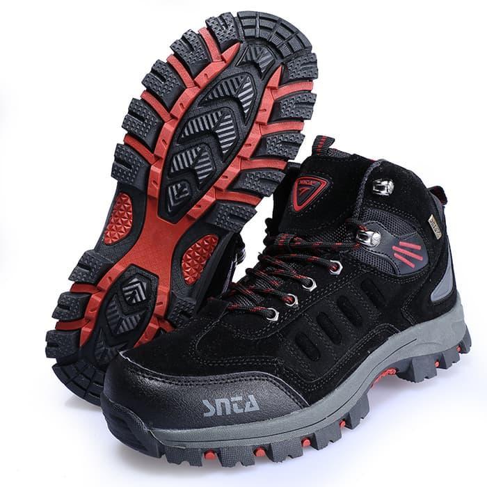 BEST SELLER!!! Sepatu Gunung/Trekking/Hiking/Adventure Merek SNTA 467 BLACK - 3F3Qov