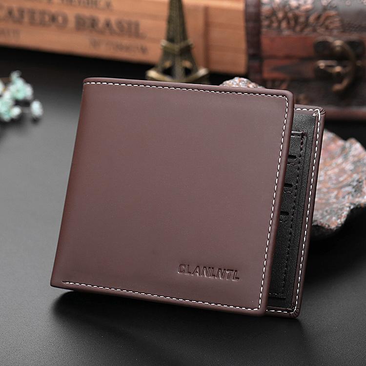 Dompet Jepang atau Korea Selatan Paket Tiket Pemegang Muda Bagian Tipis (Coklat Gelap)