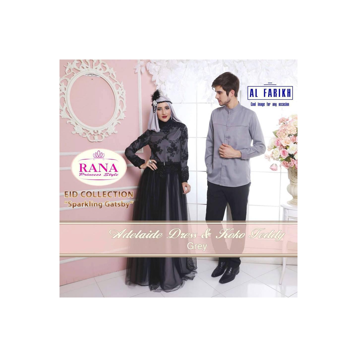 Rana Adelaide Dress/Gamis Pesta/Baju Muslim Couple