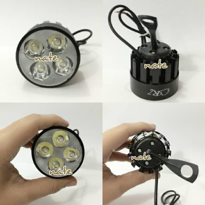 Lampu Tembak U3 LED CREE 4 Titik Sisi Sorot Bracket Spion ( BULAT )