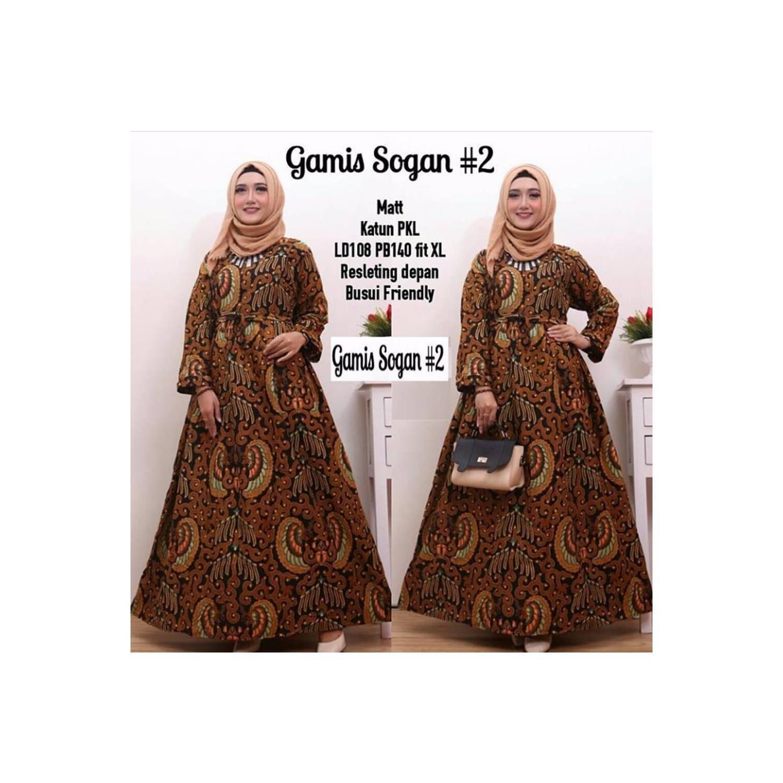 Terlaris Busana muslim wanita model leher V klik etalase toko kami ad