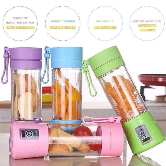 Promo Blender Juice Portable Non Power Bank Blender Mini Blender BuahBlender Capsule Shake N Take