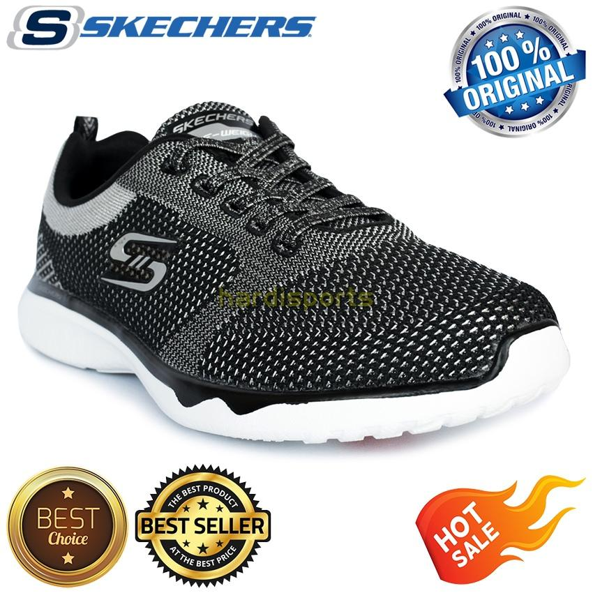 Sepatu Running Skechers Studio Burst Virtual Reality 23377-BKSL - Black  Silver 00ec946503