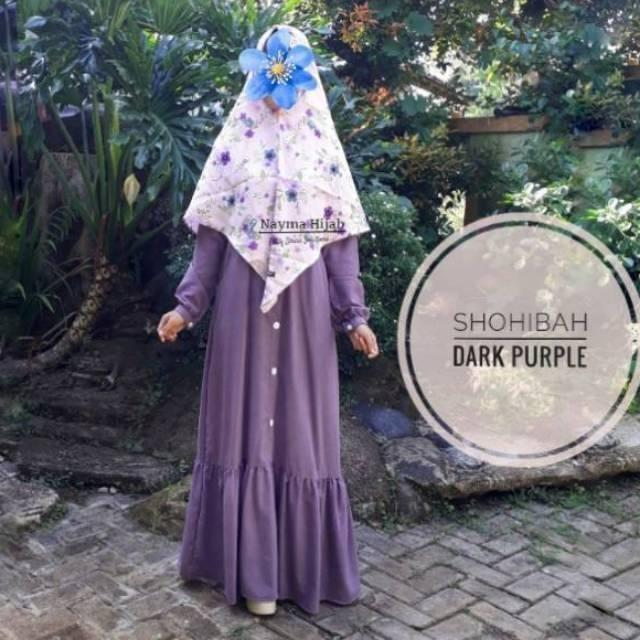 Baju Muslim Gamis / Gamis Syari / Shohibah Maxi Dress / Baju Lebaran / Gamis Lebaran (Blue Jeans)