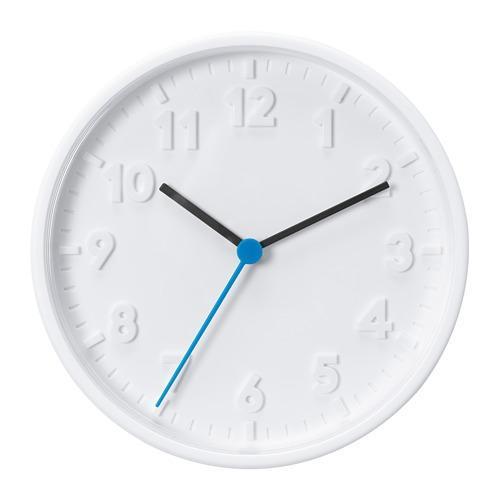IKEA Jam Dinding Minimalis Bulat 20 cm Stomma [Putih]