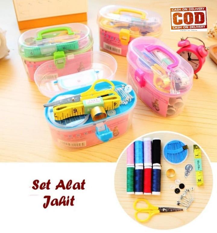 DapurBunda SEW Set Alat Jahit Peralatan Menjahit Benang Jarum Gunting  Sewing Kit   Perlengkapan jahit   738913b495