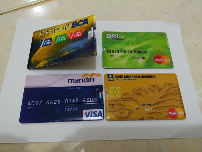 Flashdisk Model Kartu ATM Mandiri - BCA 8gb . 8 Gb