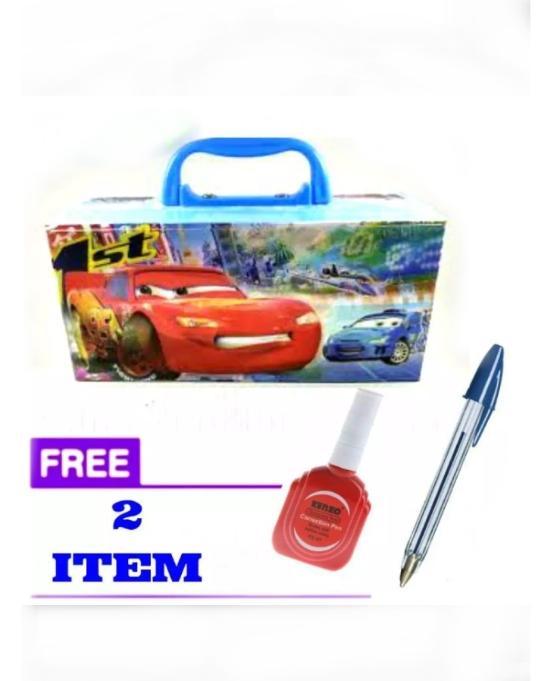 Kotak pensil karakter Cars (cowok)+free pulpen dan stip ex