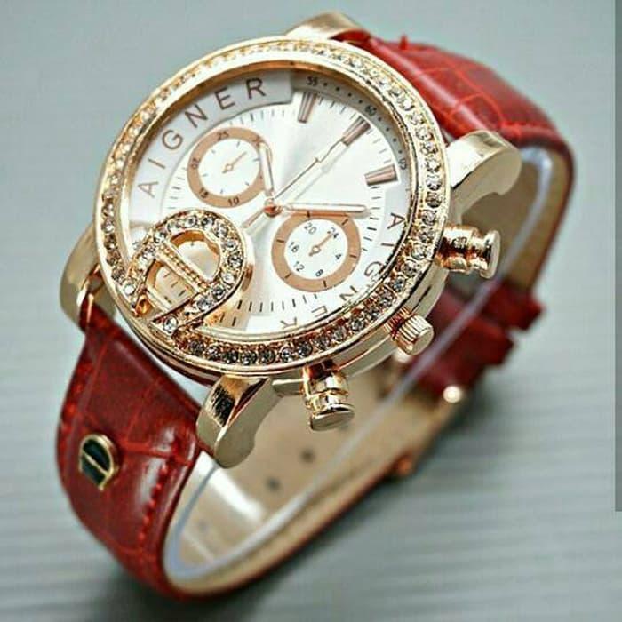 jam tangan aigner wanita / jtr 795 merah