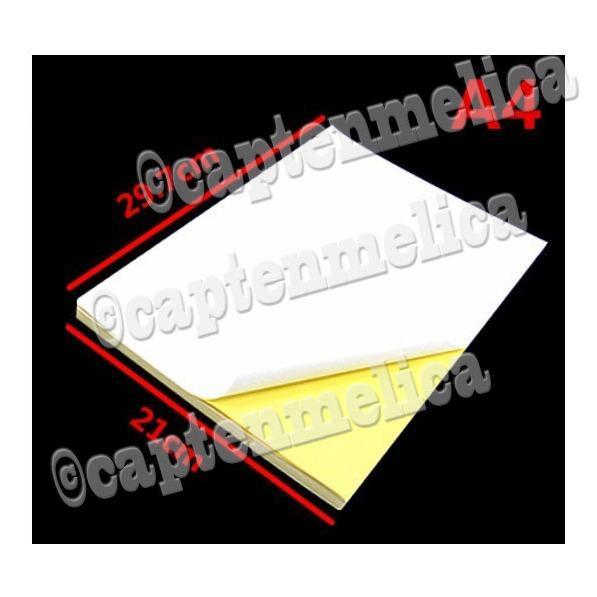 100 lembar - Kertas Stiker HVS Polos A4 Dove Kromo Dob Dop Sticker Gambar Tempel  Kertas Sticker Putih Kuning Kilap Label Barcode Packaging Nama Printer Laserjet Offset Inkjet Laser Dotmatrik Dot Matrix