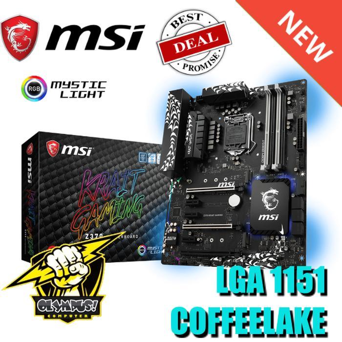 Motherboard MSI Z370 Krait Gaming Coffeelake LGA 1151