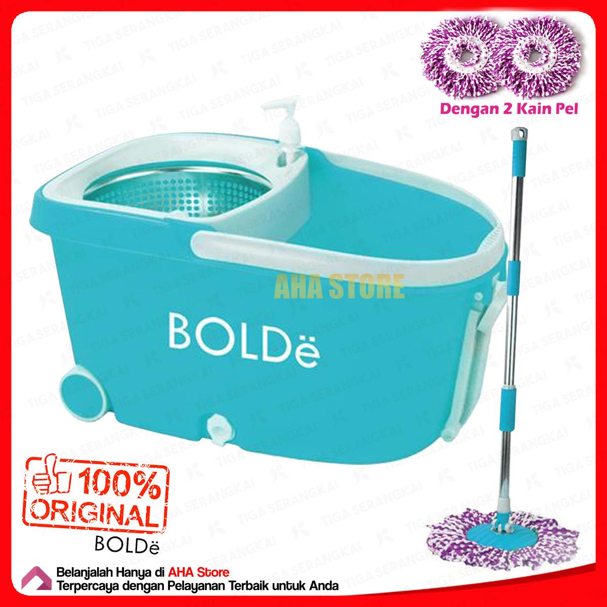 Bolde Super Mop Deluxe+ Alat Pel Stainless + Roda