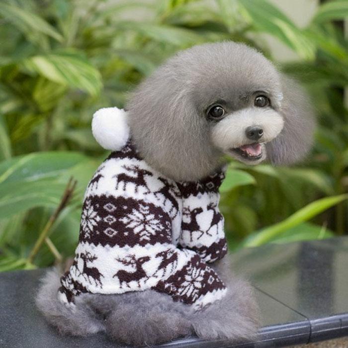 Pet Dog Warm Clothes Puppy Jumpsuit Hoodie Coat Doggy Apparel CO L