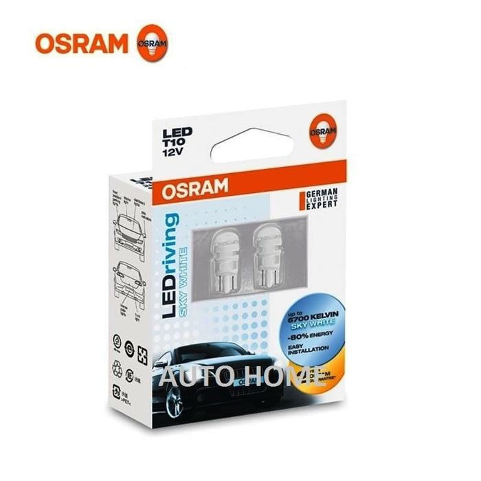 Osram LED T10 W5W Putih 6700K Lampu Senja, Kota, Plat Nomor 2880SW