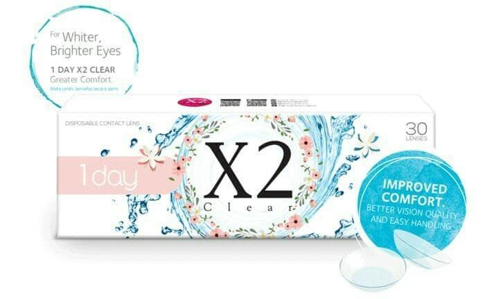 Softlens / Acessoris Softlens x2 clear daily 15psg Kualitas Super