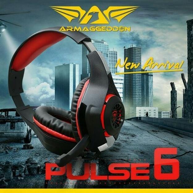 Armaggeddon Pulse6 2.1 Stereo Headset Gaming with Resonating Bass - Merah