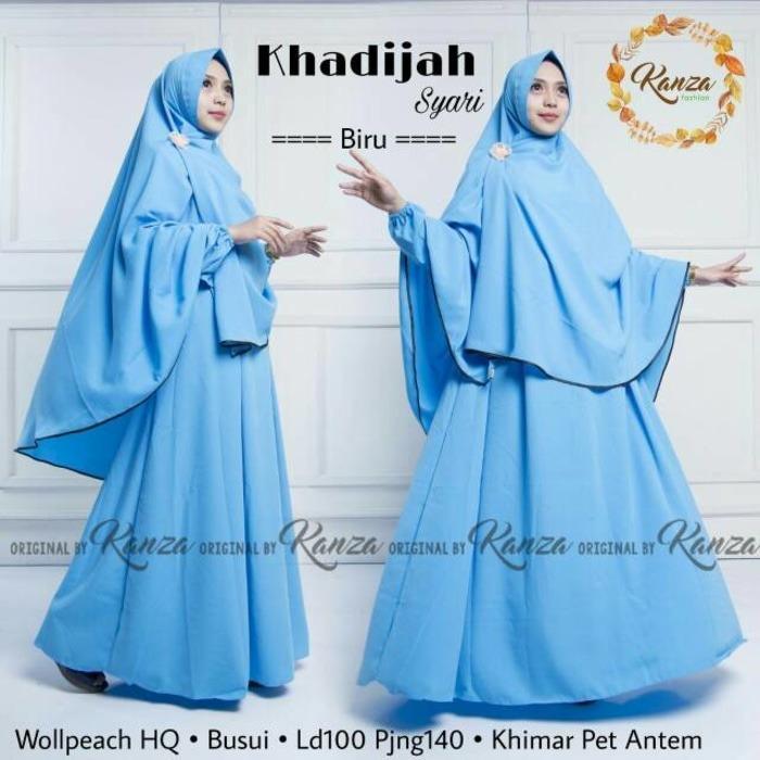 Baju Muslim Original Gamis Khadijah Syari Dress Wolfice Baju Panjang Muslim Dress Casual Wanita Pakaian Hijab Modern Gamis Modis Trendy Gaun Terbaru 2018 (BEST SELLER)