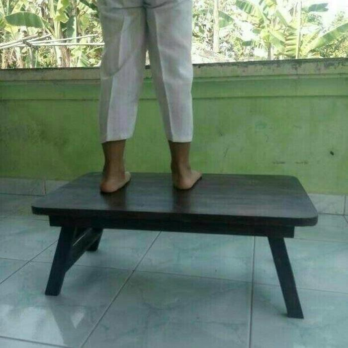 meja belajar lipat / meja laptop lipat kayu murah