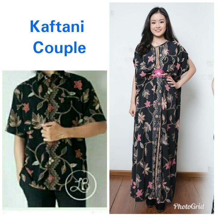 SB Collection Couple Dress Maxi Aldis Longdress Kaftan Jumbo Dan Kemeja Batik Pria