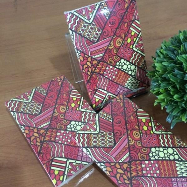 GAPJM42 : JURNAL Red Pattern Batik (mini)