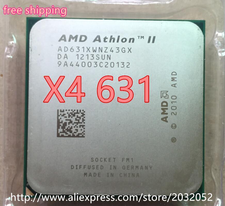 AMD II Athlon X4 631 Quad-Core Potongan Tersebar CPU FM1 2.6G 4 M CPU Quad-Core (Bekerja 100%)
