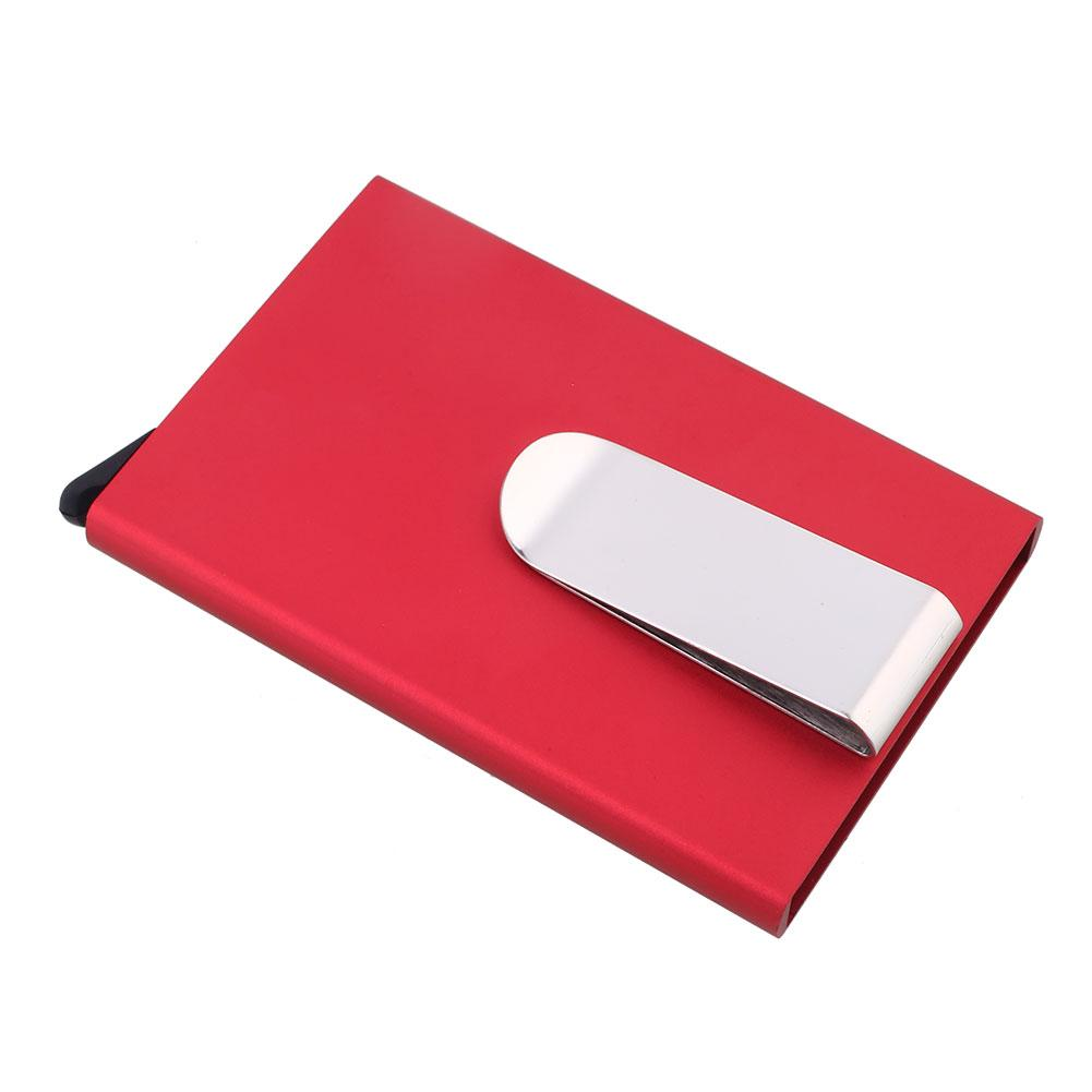 Aluminum Alloy Universal Antimagnetic ID Card Credit Card Case Anti-Scan Metal Case Cash Holder