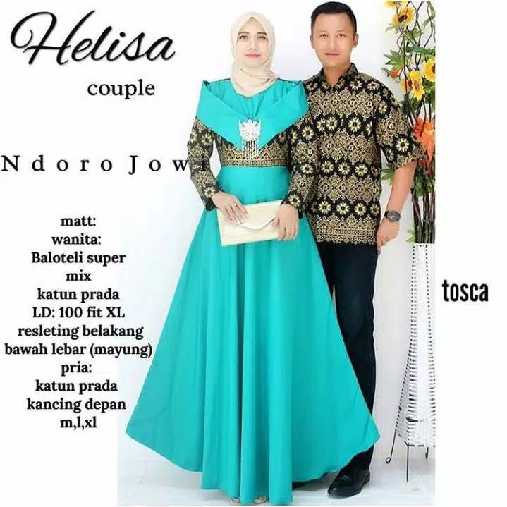 Batik Couple Modern / Batik Sarimbit Modern / Batik Kondangan Modern / Batik Keluarga Terbaru Helisa