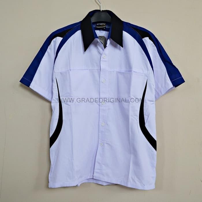 Kemeja Seragam Promosi KODE: Kemeja Polos TYT-01 Putih Kombinasi Hitam - 0nFl5O
