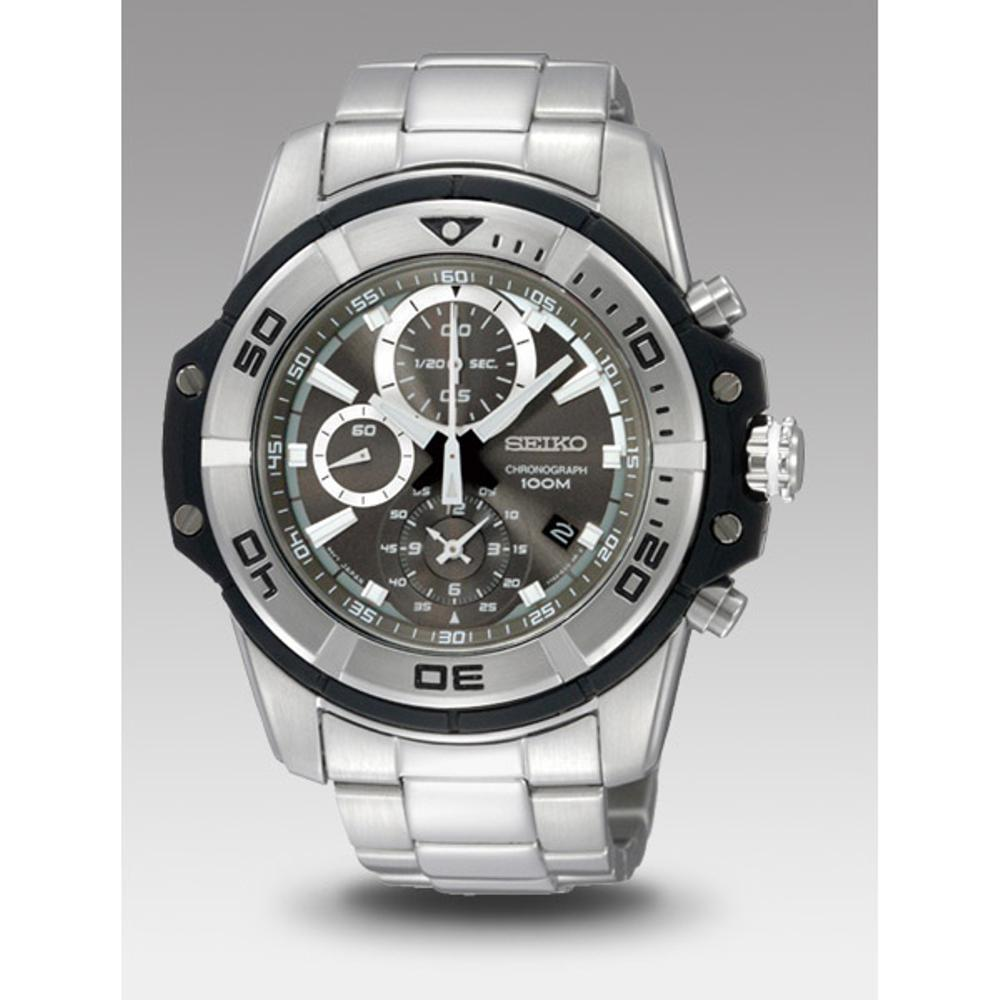 Buy Sell Cheapest Seiko Grey Best Quality Product Deals Chronograph Jam Tangan Strap Stainless Steel Silver Sks521p1 Quartz Sndb43p1 Dark Dial Pria Sndb43