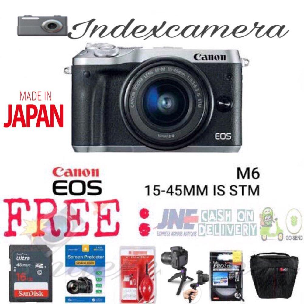 Canon EOS M6 Kit 15-45MM IS STM PAKET LENGKAP