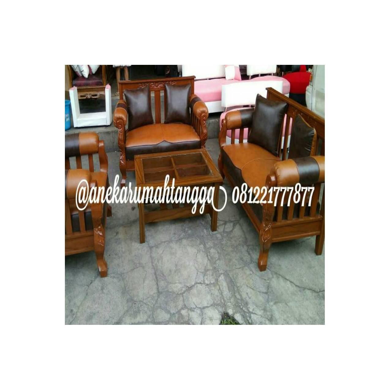 sofa kayu minimalis MURAH PROMO COKLAT FREE ONGKIR terlaris LEBARAN