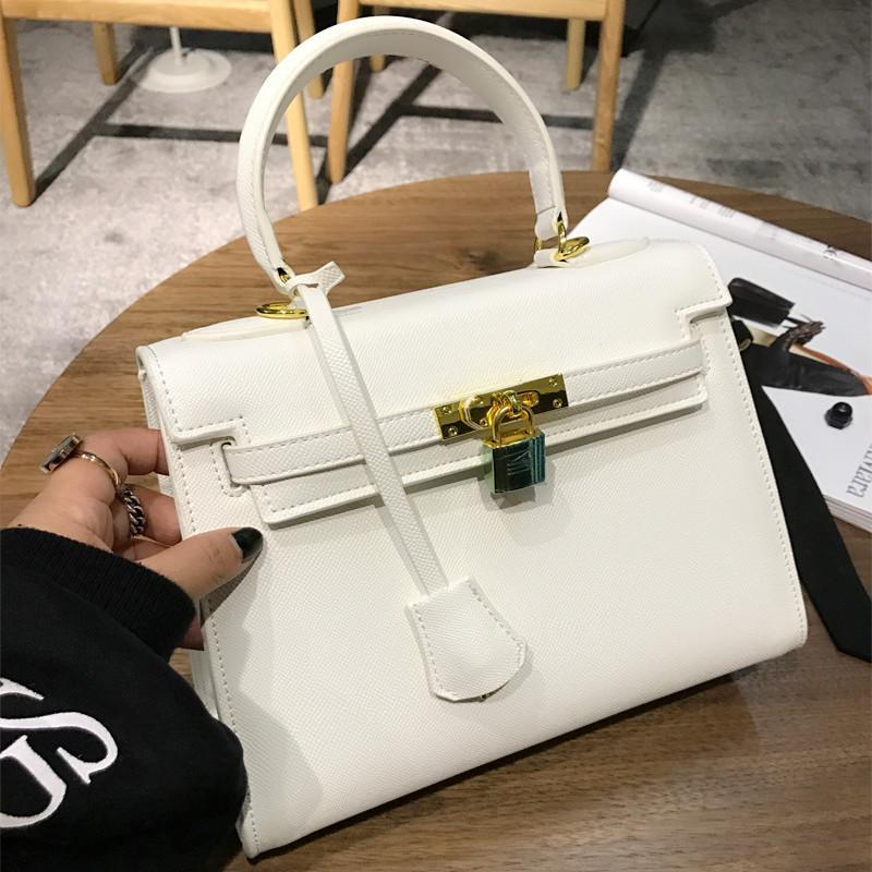 Kelly Modis Kunci Tas Model Hermes Rajut Tas Wanita (Putih 25 cm)