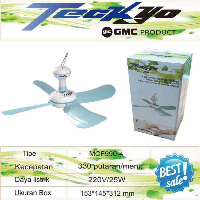 Kipas Angin Gantung Besar TECKYO 990-4 - Celling Fan GMC 25W