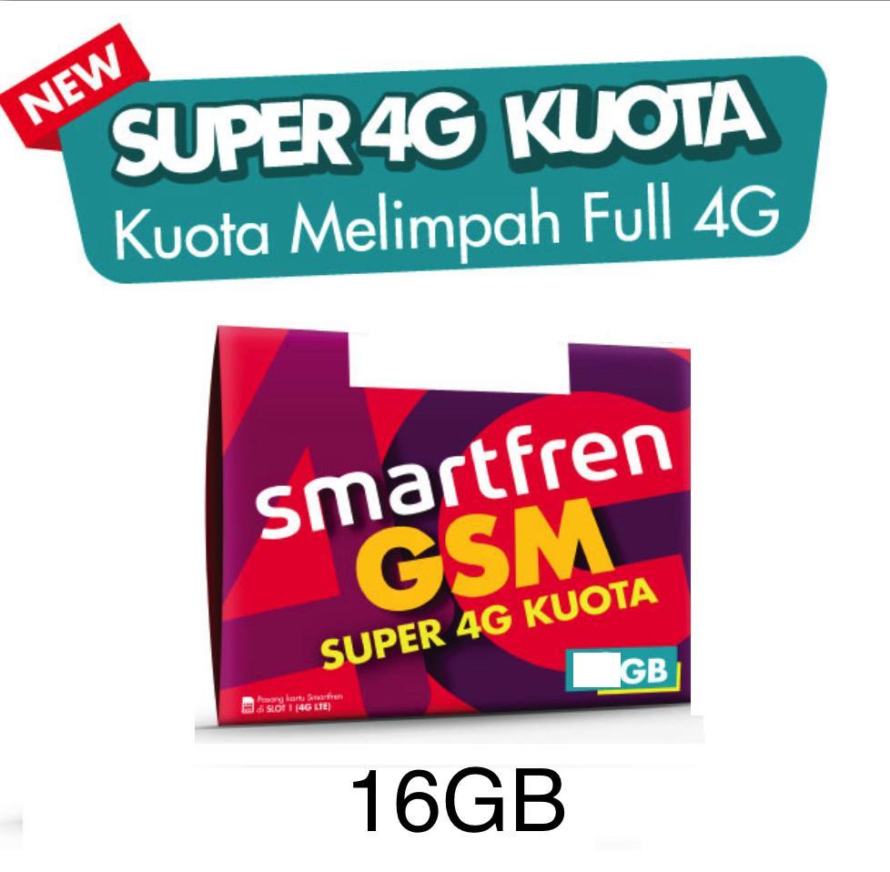 Kartu Sim Perdana Selular Voucher Smartfren 3 Gb 16gb Super 4g Kuota