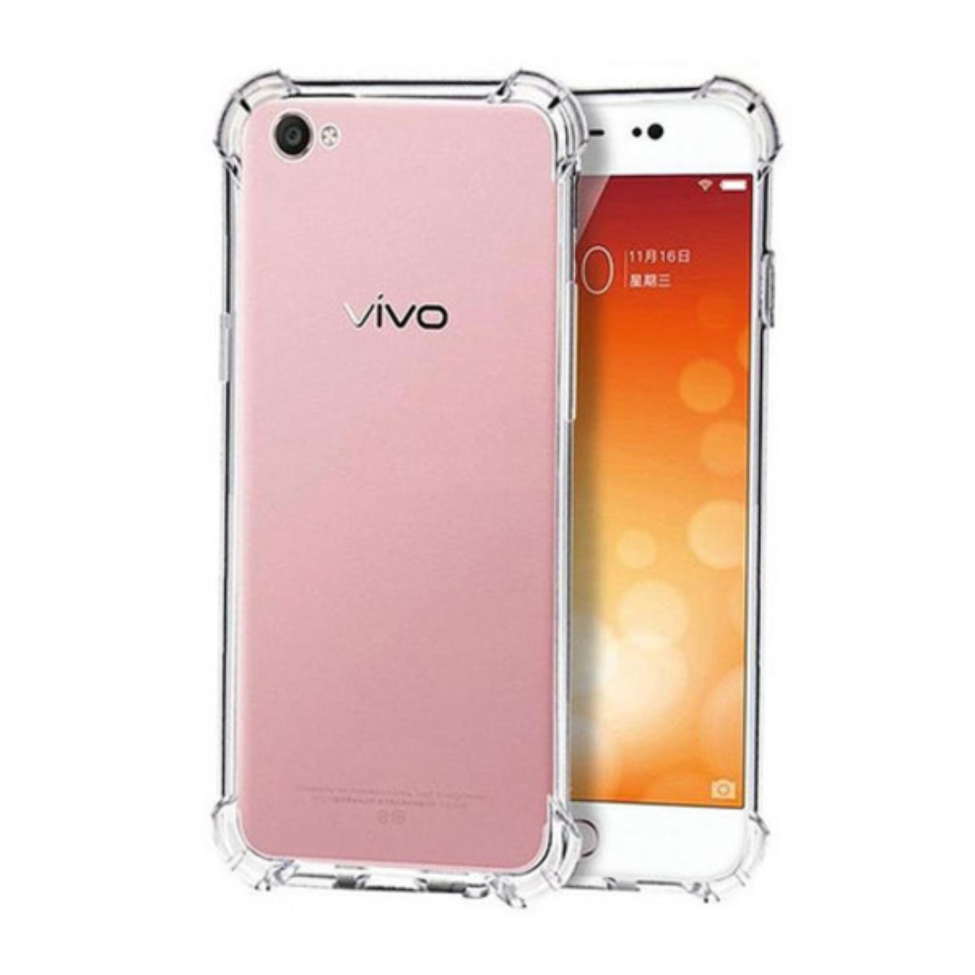 LOLLYPOP Softcase Anti Crack Vivo Y65 / Y66 Clear Transparan Bening Anti Shock ShockProof TPU Jelly Silicone Backcase Back Cover